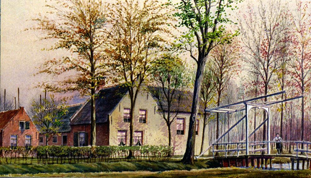 Aquarel van Jan Verheul 1929